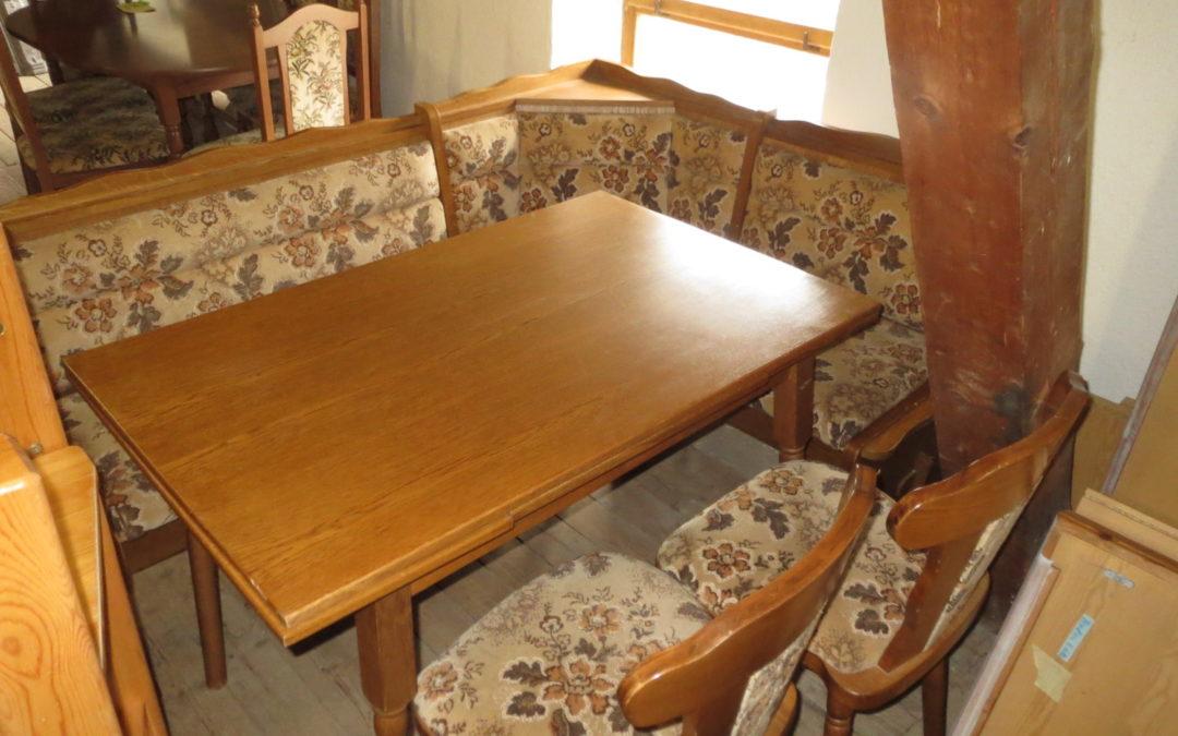 Rohový set+ stůl+2 židle