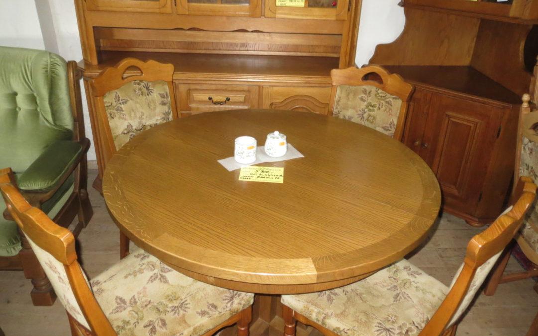 Stůl kulatý +4 židle